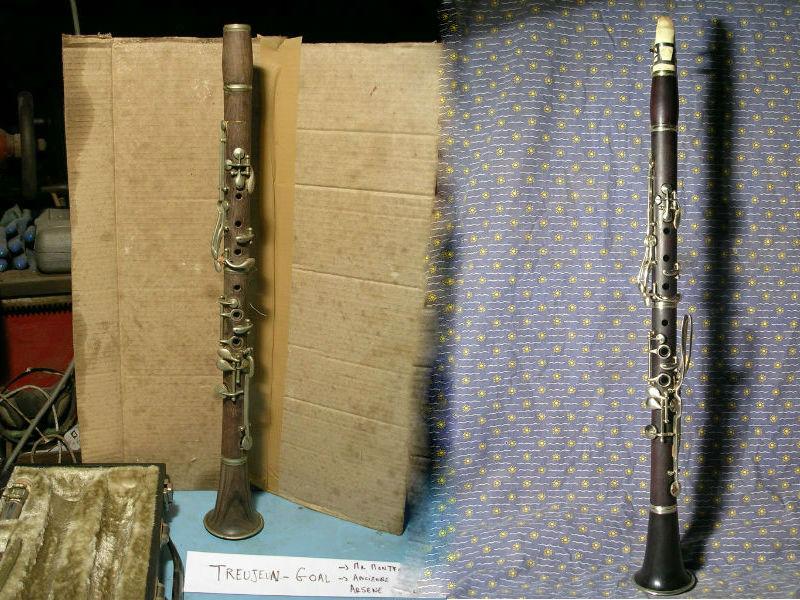 clarinette avant après raccord